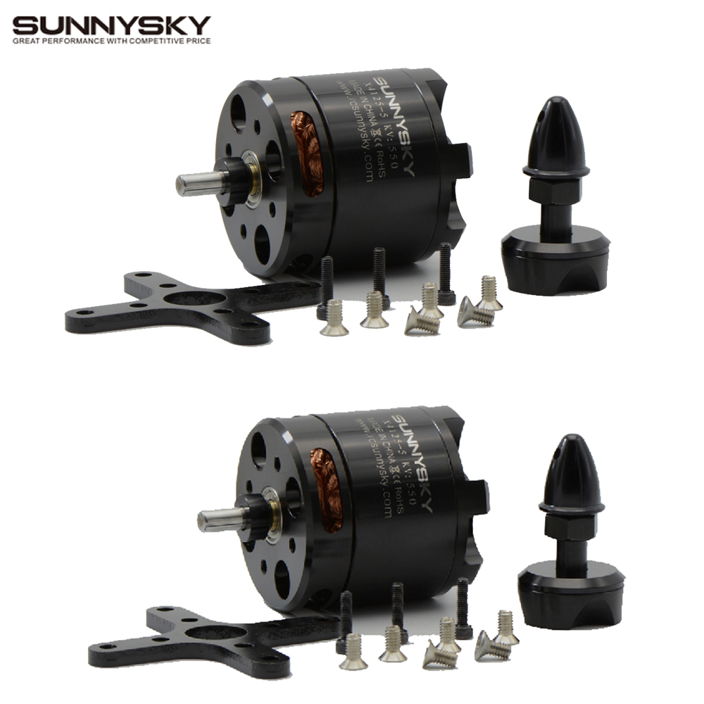 4 PCS Original SUNNYSKY X4125 KV465 550KV 6S high efficiency brushless motor Fixed wing motor
