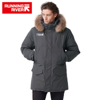 RUNNING RIVER Brand Men Winter Warm Hooded Down Jacket High Quality Thermal Waterproof Man Clothing Outdoor