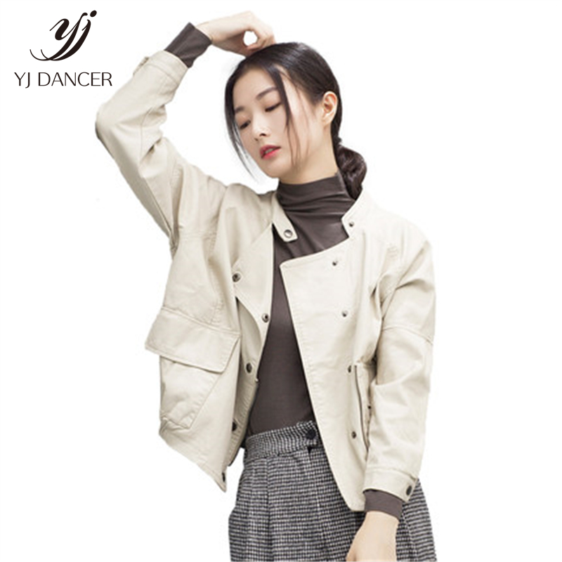 Leather   Clothing Women's 2018 Fashion High quality Spring And Autumn New Hip Hop Loose Pu   Leather   Jacket Short Coat Tide H0116