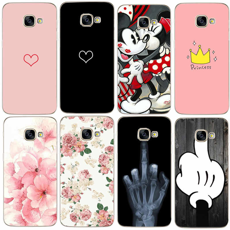 Heart leaves Case For Samsung Galaxy S8 S9 Plus A3 A5 A7 J5 2017 J530 2016 A8 Plus 2018 Silicone Soft Cover Luxury For Women