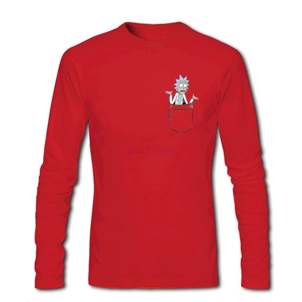 Design tshirt online free shipping - Free Shipment Males Rick Pocket Organic Cotton Round Collar Tee Shirts Guys Pilots Full Sleeve 3d