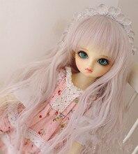 ตุ๊กตาสูงอุณหภูมิลวดผ้าไหมและสีชมพูสีผสมวิกผมสำหรับ 1/8 1/6 1/4 1/3 BJD SD DD MDDตุ๊กตาอุปกรณ์เสริม