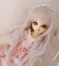 Parrucche bambola filo ad Alta temperatura di seta e rosa colore misto parrucche disponibile per 1/8 1/6 1/4 1/3 BJD SD DD accessori della bambola MDD