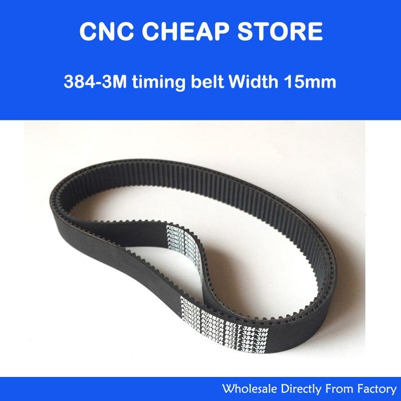 6 mm Breit 384-3M 128 Zähne Timing Belt Zahnriemen HTD