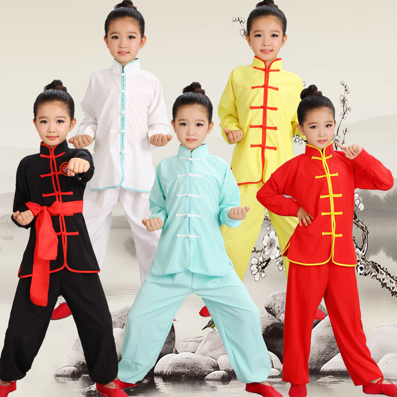 Children's martial arts costumes new young people Tai Chi exercise clothing long sleeves show clothing