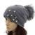 GZHiLoving 2017 Primavera Nuevo Diseño Slouch Gorros Pompón Sombreros de Las Mujeres Señoras de Las muchachas de Primavera Sombreros Con Perla Pompón de Piel Floja Delgada sombrero