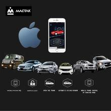 MACTAK Universal PKE Smart Key Smartphone Remote Start Stop Control Car Alarm Security Button With IOS Passive Keyless Entry
