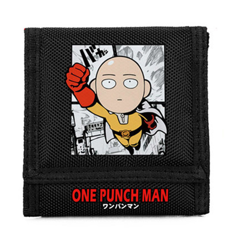 ONE PUNCH MAN Fashion Cartoon Men Wallets Short Design Purse Card Holder