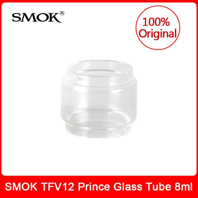 Original SMOK <font><b>TFV12</b></font> <font><b>Prince</b></font> <font><b>Glass</b></font> Tube 8ml <font><b>Bulb</b></font> Pyrex replacement <font><b>glass</b></font> tube for smok <font><b>tfv12</b></font> <font><b>Prince</b></font> (Cobra Edition) tank image