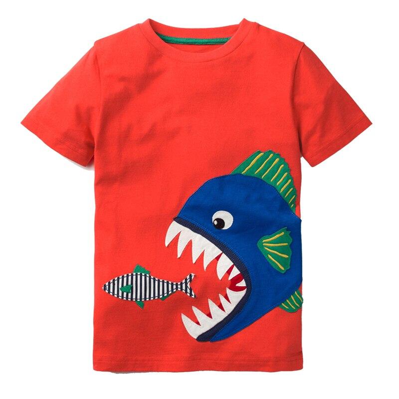 Camiseta de los muchachos ropa del verano del bebé 2018 marca unicornio dinosaurio niños camisetas para niños ropa niños camisas de manga corta