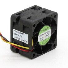Ventiladores de alta velocidad para servidor Sunon, PMD1204PQBX A original, 4CM, 4028, 12V, 6,8 W, 40x40x28mm