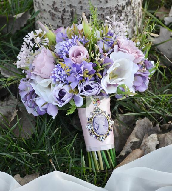 Vintage Hochzeit Liefert Braut Brautjungfer Bouquet Braut Mit Blume