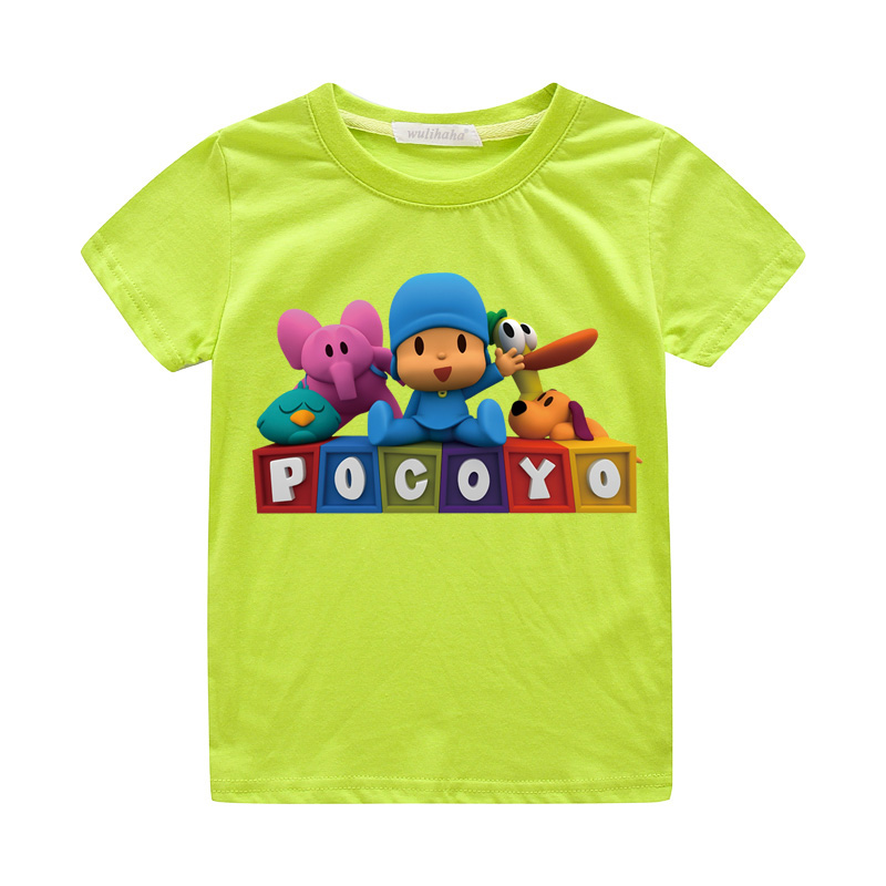 Kids Summer Cartoon Pocoyo Print T-shirts Boys Girls Cute 3D Funny Tshirts Costume Child Casual Tee Top Clothes For Baby ZA067 (4)