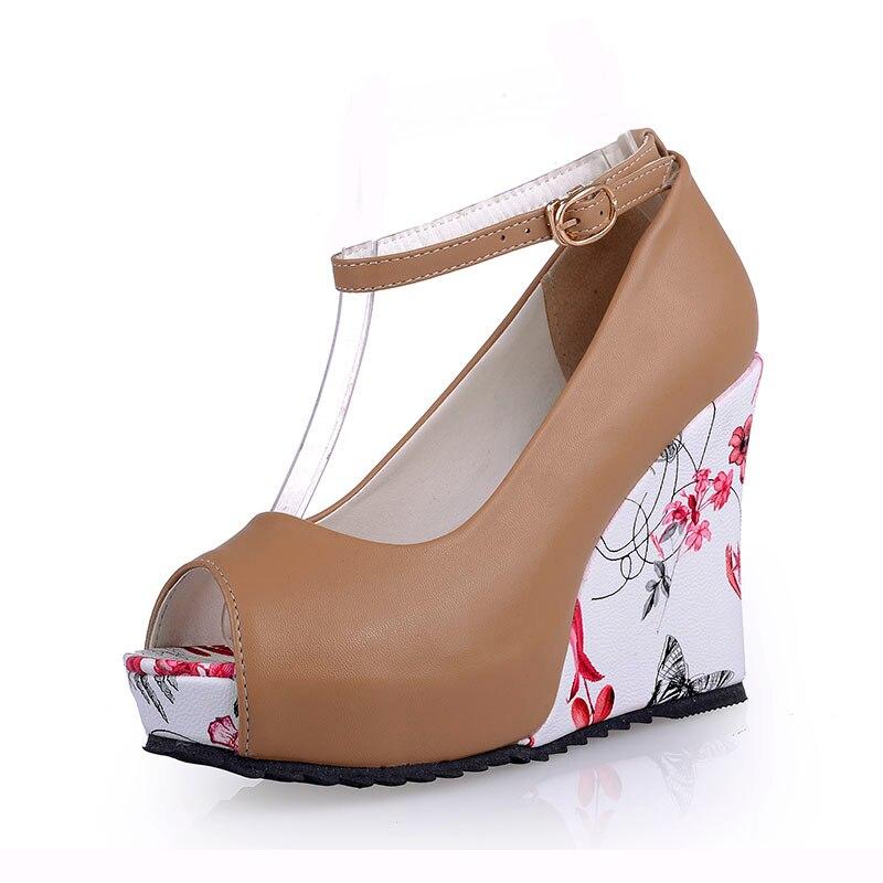 Haute Taille Coins automne Super Chaussures Lady Plus beige forme Pompes Apricot Solide Printemps Partie Casual Mode Peep Femmes Talons La Talon blanc Plate noir Toe qAz7Xxvw
