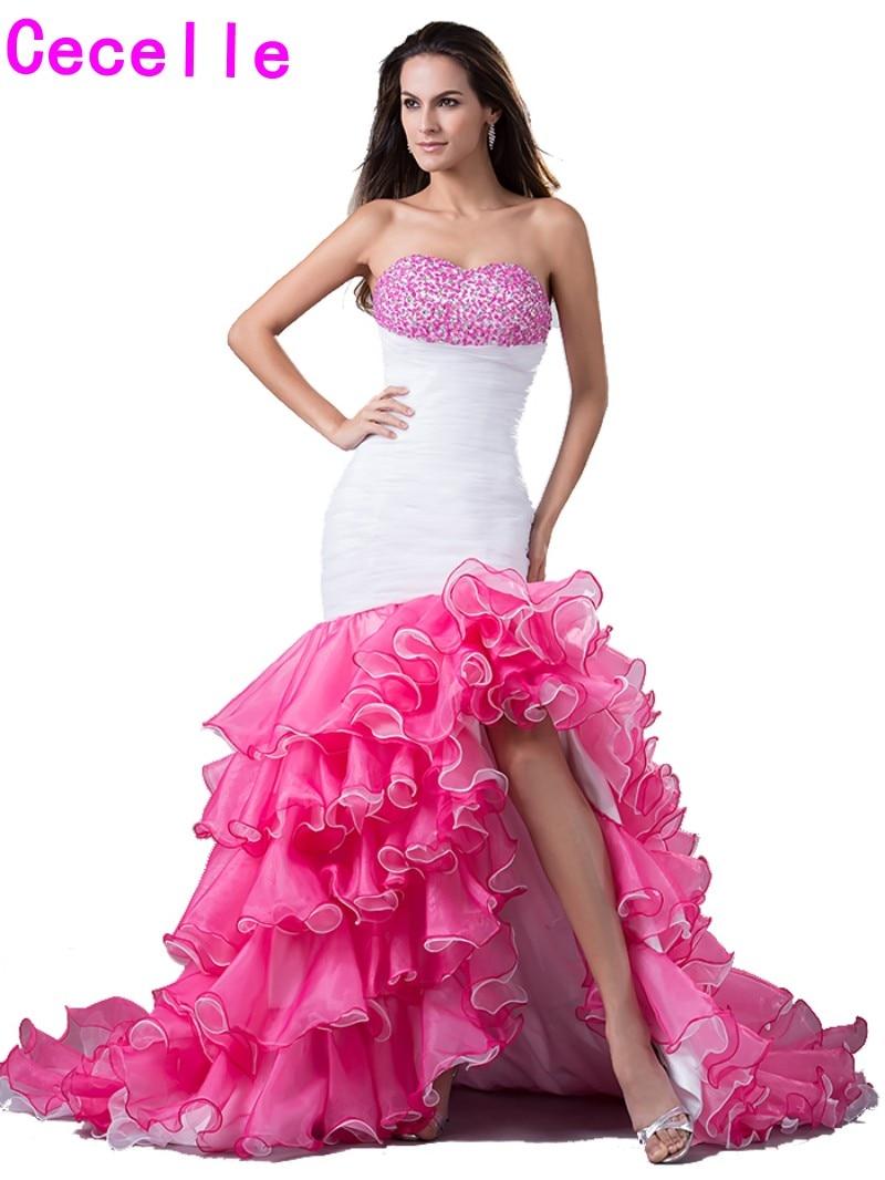 Lujoso Vestido Alto Bajo Del Baile Negro Embellecimiento - Colección ...