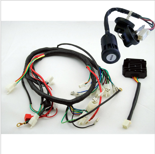 250cc key rectifier barrel quad wiring harness 200 250cc chinese rh aliexpress com 250cc buggy wiring harness