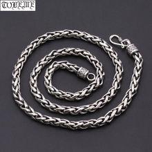 Винтажное ожерелье из 100% серебра 925 пробы 6 мм тайское с