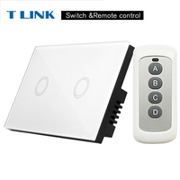 TLINK 2 Gang 1way Anti Corrosion Touch Switch US 110 220v Standard Home Wall Remote Control