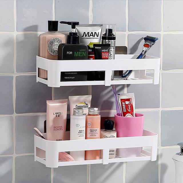 Bathroom Wall Shelf Kitchen Storage Organizer Toilet Rack Toiletries