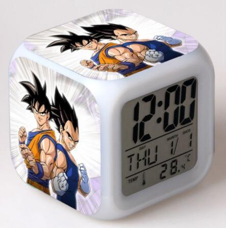 Horloge numérique 3D 7 Dragon Ball | Affiche damination, horloge avec simple visage, alarme pour enfants, horloge cadeau de noël, jouets de dessin animé