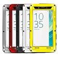 Amor mei potente cajas del teléfono móvil del metal de aluminio para sony xperia x 5.0 pulgadas de agua/dirt/a prueba de golpes case cover + templado vidrio