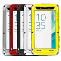 Love Mei Mobile Phone Cases Powerful Aluminum Metal For Sony Xperia X  5.0 inch Water/dirt/Shockproof Case Cover+Tempered Glass