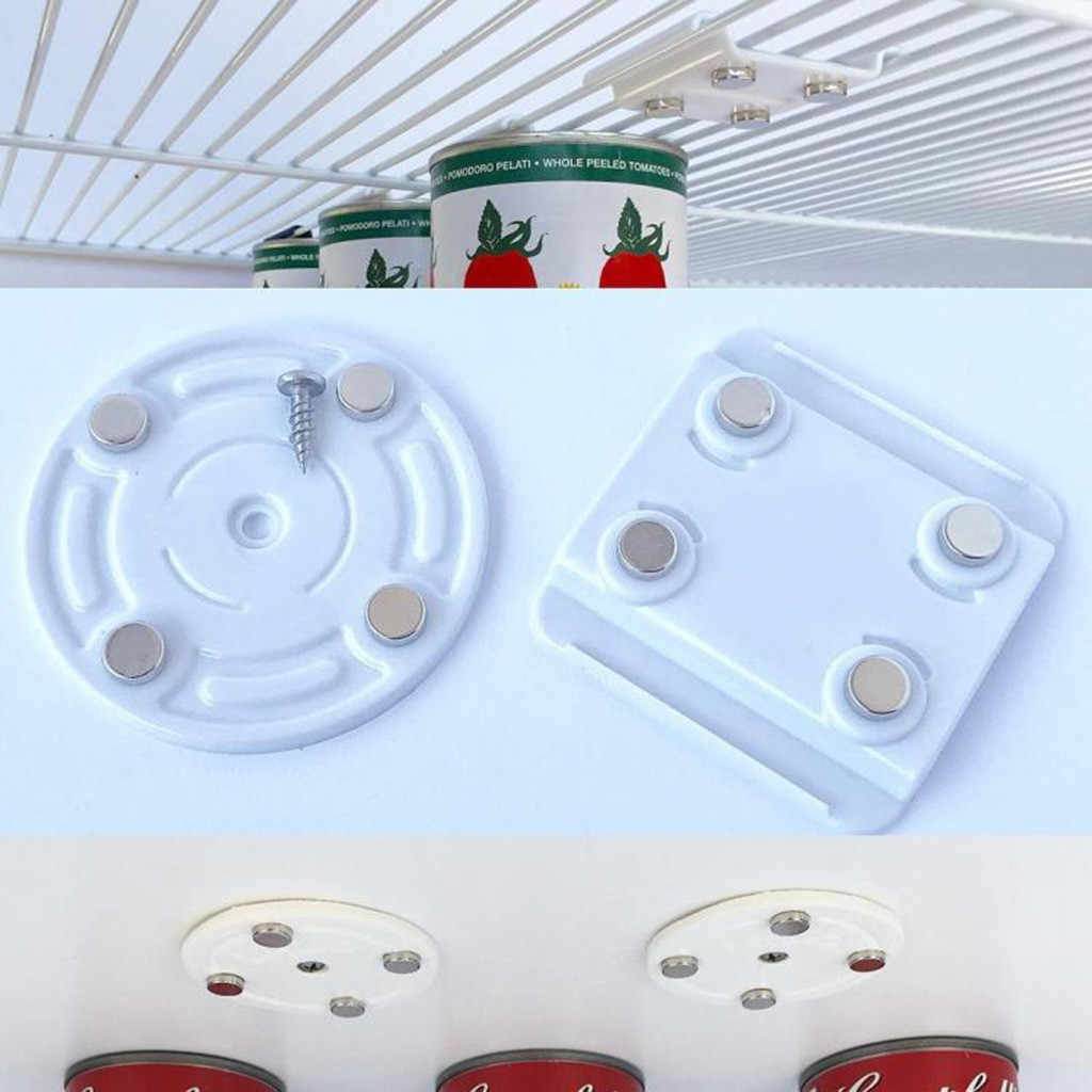 CanLoft  Magnetic Canned Food Hangers Magnetic Save Space In Your Pantry Strong Magneet Haak Zwart Strong Magnet Hook Hot Sales