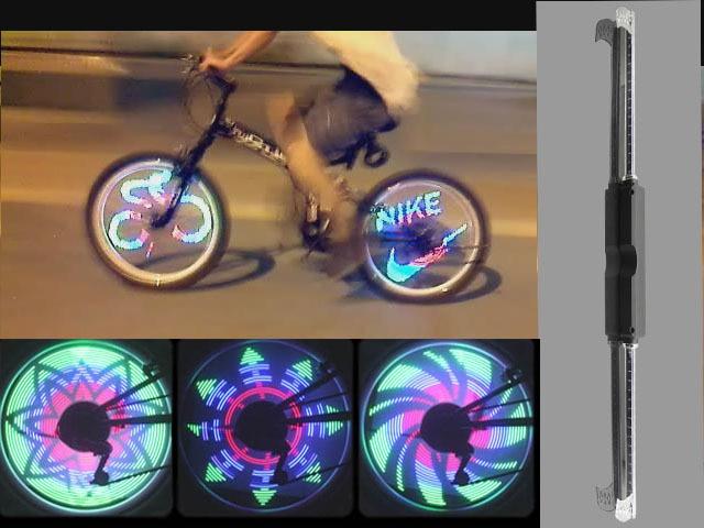 Licht Voor Fiets : Geleid programmeerbare kleurrijke fiets wiel licht scherm