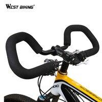 BMX MTB Bike Handlebar Alloy Steel Handle Bar Cycling Road Bike Accessories Carbon Bicycle Butterfly Handlebar With Sponge