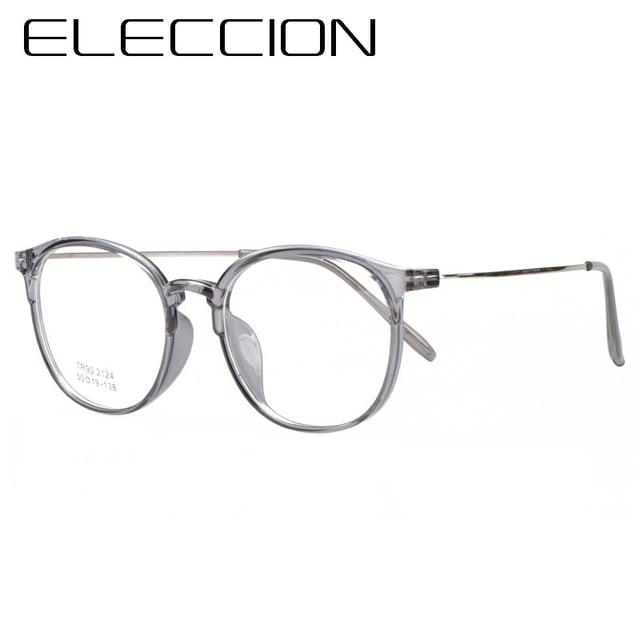 61c998fa9a7 ELECCION Ultralight Full Rim Frames Eyewear 2018 New Round Frame Glasses  For Women Myopia Prescription Eyeglasses Frame For Men