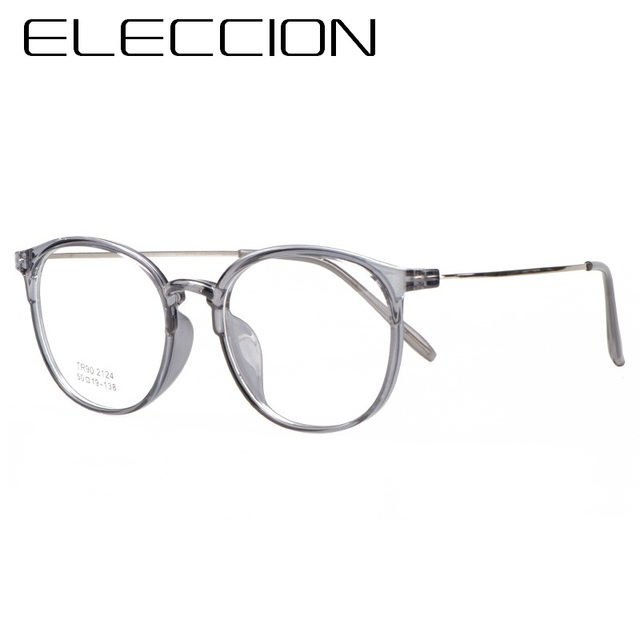 e7f5c9294dc ELECCION Ultralight Full Rim Frames Eyewear 2018 New Round Frame Glasses  For Women Myopia Prescription Eyeglasses