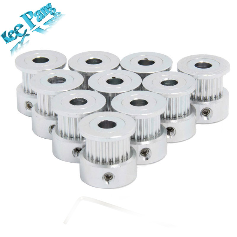 GT2 Timing Pulley 16teeth ( 16 teeth ) Tooth Aluminium Part Bore 5mm Fit For GT2 Belt Width 6mm 3D Printers Parts Accessories