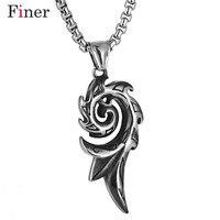Ожерелье Феникса пламени из нержавеющей стали для мужчин мифические создания тотем Шарм Кулон Мужской панк ювелирные изделия подарки