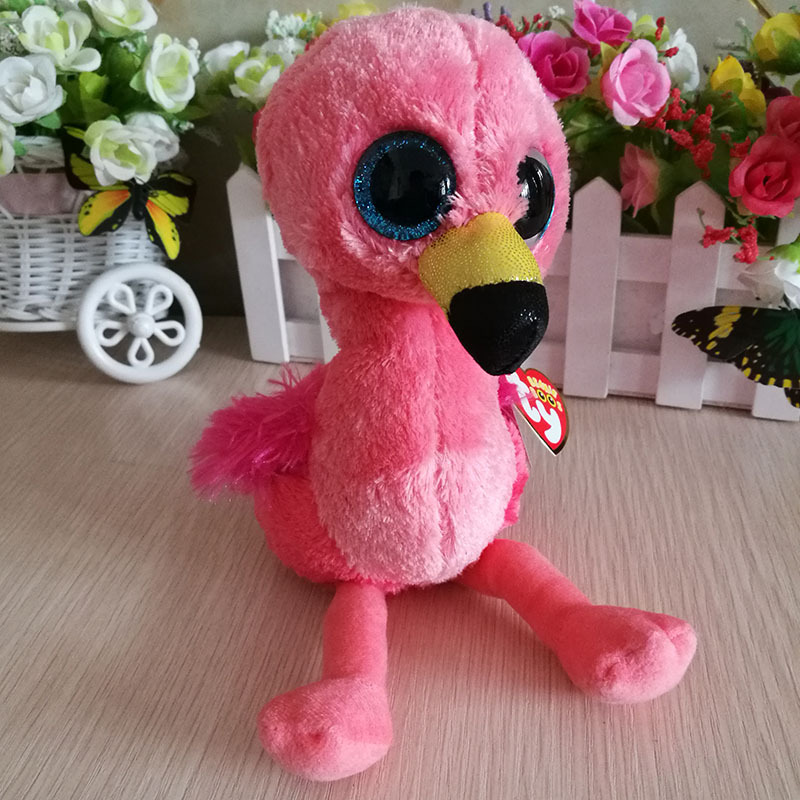 New Ty Beanie Boos 6 15cm the Lynx Seal Monkey Parrot Plush Soft Big Eyes Stuffed Collectible Animal Doll Toy Gifts for Babies