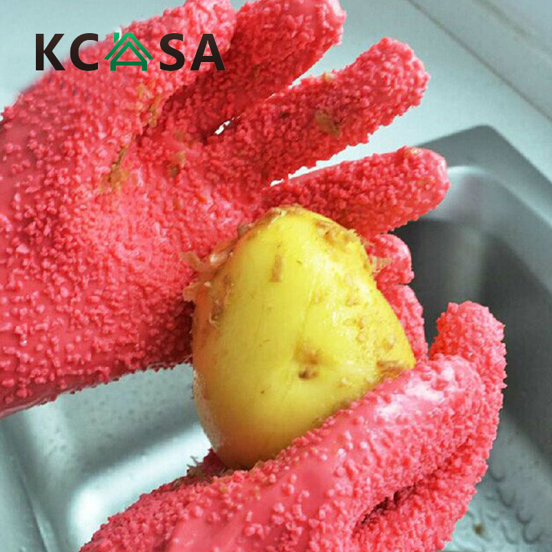 1 Pair Peeling Potato Gloves Peel Vegetable Fish Scale Gloves Potato Peeler For Kitchen Tools gadget accessories