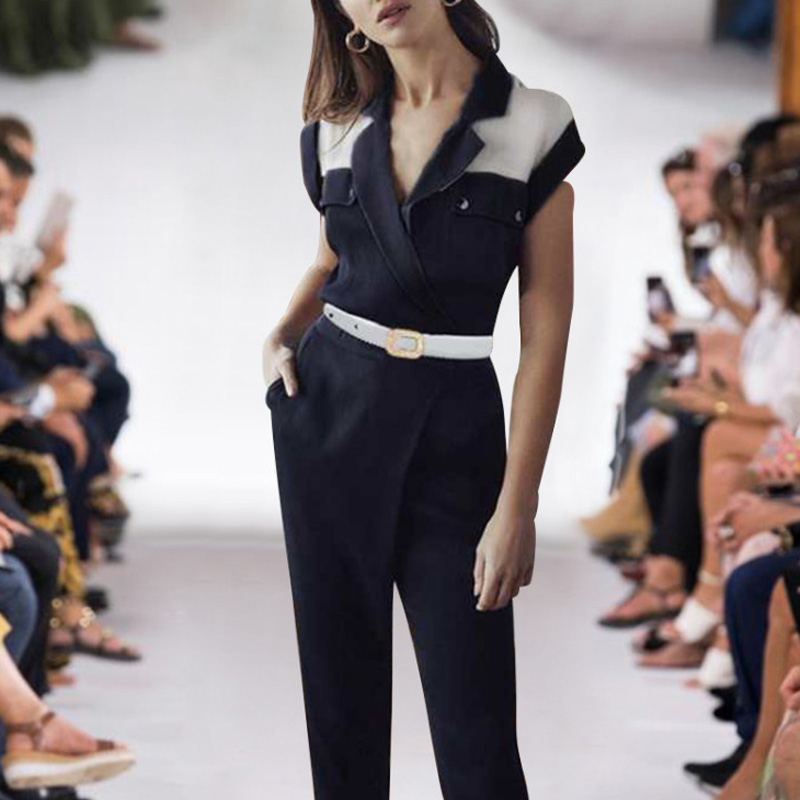 Milan Runway Designer New Fashion High Quality Summer Party Workplace Sexy Tops Trousers Vintage Elegant Chic