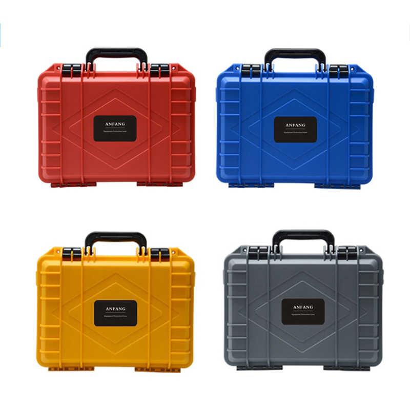 ABS Plastik Tertutup Kotak Alat Alat Safety Toolbox Koper Tahan Benturan Alat Case Tahan Guncangan W Busa Logo Empat Warna