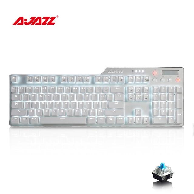 Ajazz AK35i RGB клавиатура с подсветкой переключатели клавиатуры USB 3,0 проводной светодиодный Подсветка эргономичные клавиатуры для LOL ПК компьютер