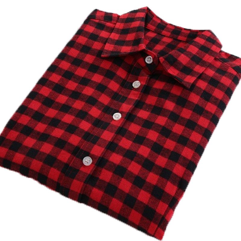 Popular flannel shirts women buy cheap flannel shirts for Where to buy cheap plaid shirts