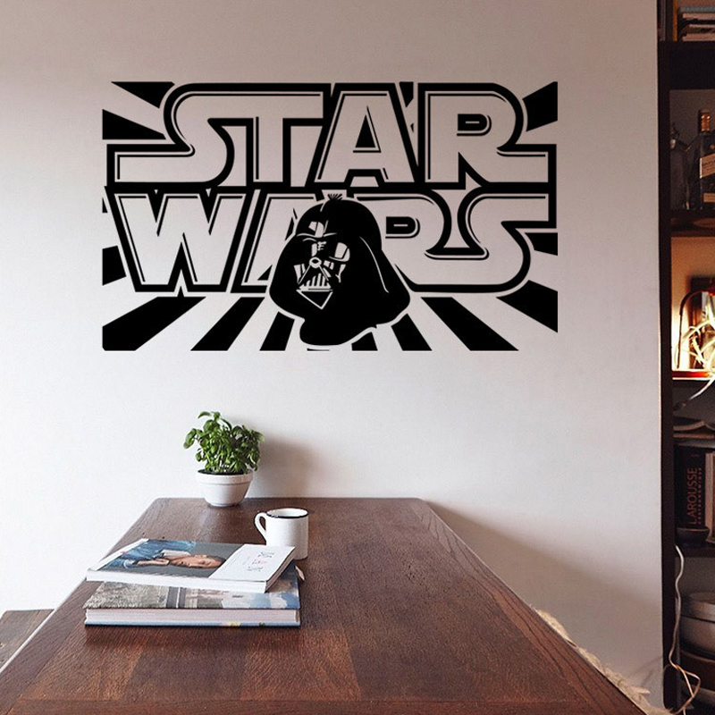 Aliexpress.com : Buy Star Wars Wall Decal With Darth Vader Boys Bedroom  Vinyl Wall Sticker Decor Lego Star Wars Poster Home Decor Decals From  Reliable Decal ...