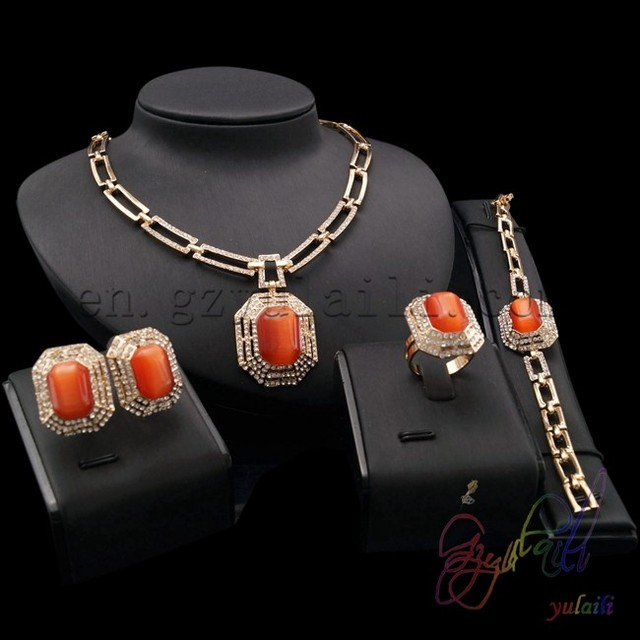 popular delicate opal jewelry set 18 carat gold plating jewelry best selling christmas gifts 2016