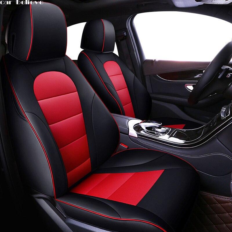 Acreditar Auto tampa de assento do carro de Couro do carro Para suzuki swift jimny grand vitara sx4 baleno acessórios capas para assentos de veículos