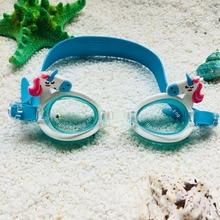 74d643146086 2018 New Cartoon Unicorn Style Kids Swimming Goggles Anti Fog Adjustable  Straps Eyeglasses Outdoor Waterproof Swim