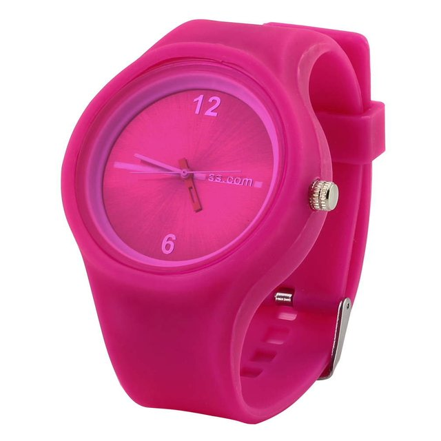 NEW Unisex Sports Candy Wrist Watch Creative Blue Rose Red Color Activity For Bo