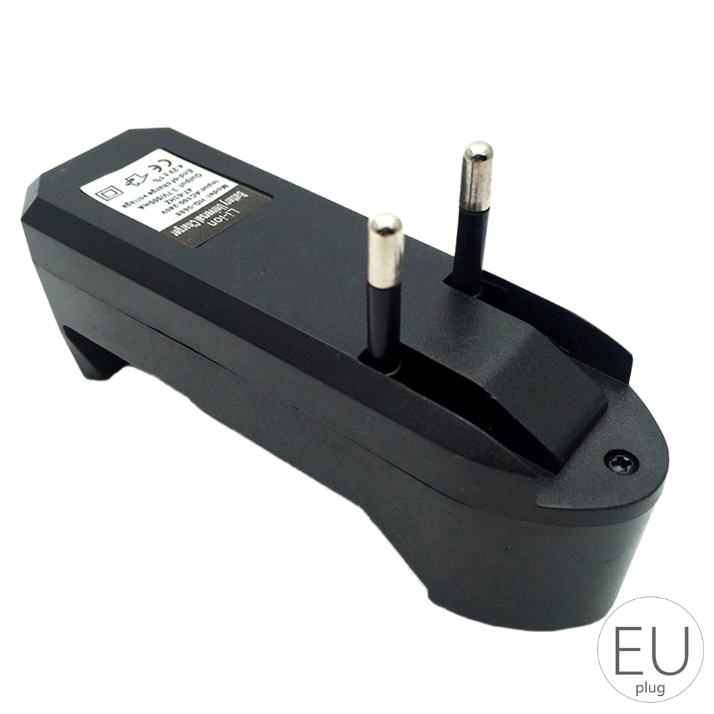US Plug Single Slot Portable Battery Charger for 18650 Lithium Polymer Battery