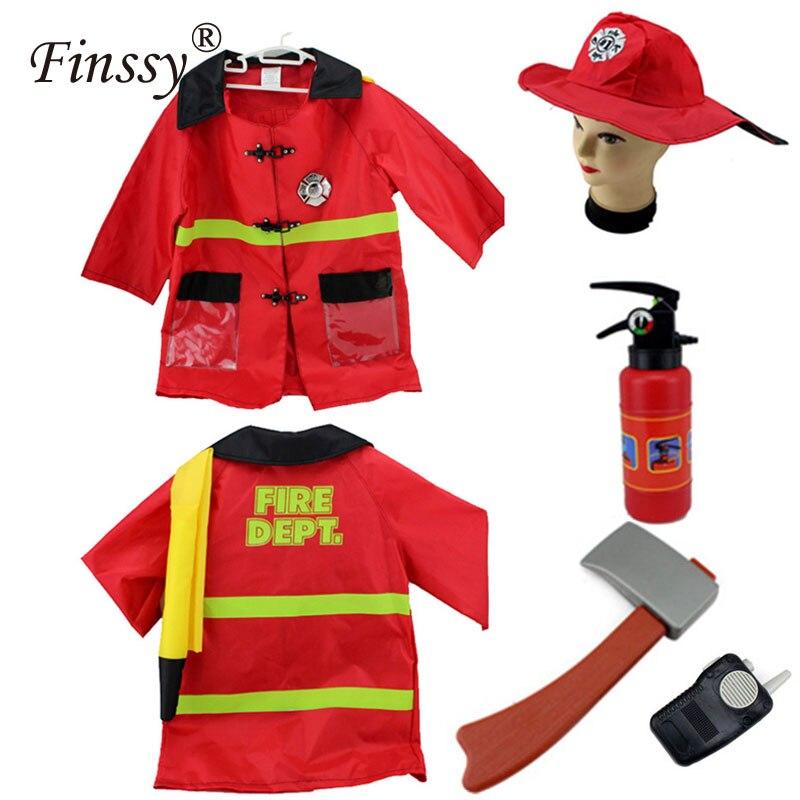 Feuerwehrmann Sam Kostüm für Jungen Mädchen Halloween-kostüm für ...