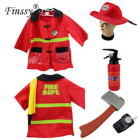 Fireman Sam Costume For Boys Girls Halloween Costume For Fancy Dress Party Wear Fireman Cosplay Clothes