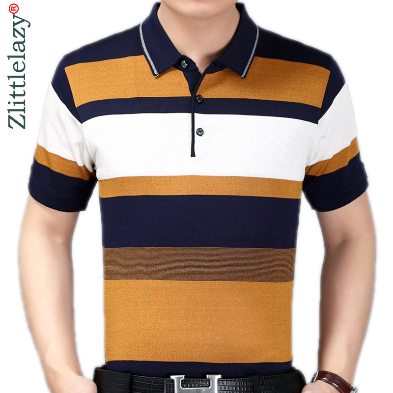 2019 summer short sleeve knitting   polo   shirt men clothes striped fashions   polos   tee shirts pol cool mens clothing poloshirt 170