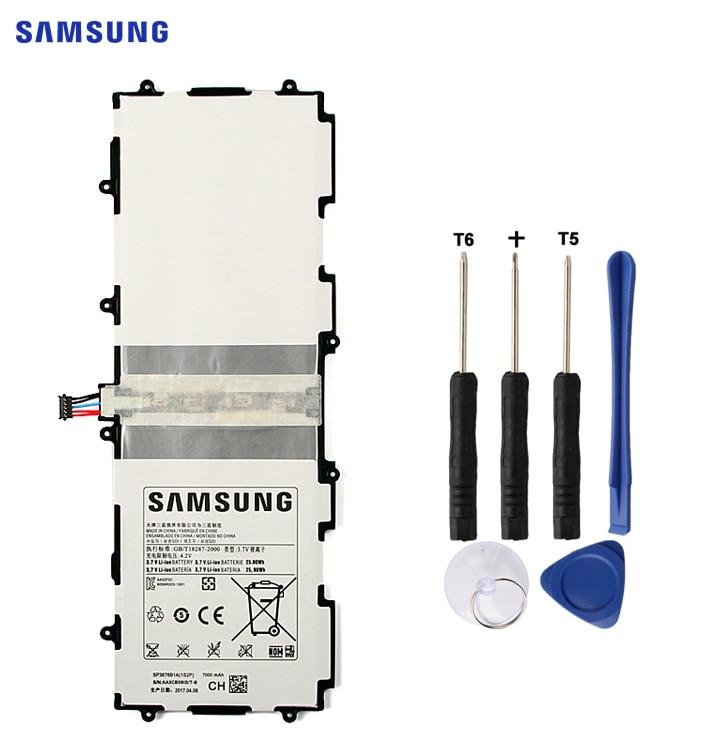SAMSUNG Batterie D'origine SP3676B1A Pour Samsung Galaxy Tab 10.1 S2 10.1 N8000 N8010 N8020 GTN8013 P7510 P7500 P5110 P5100 7000 mah