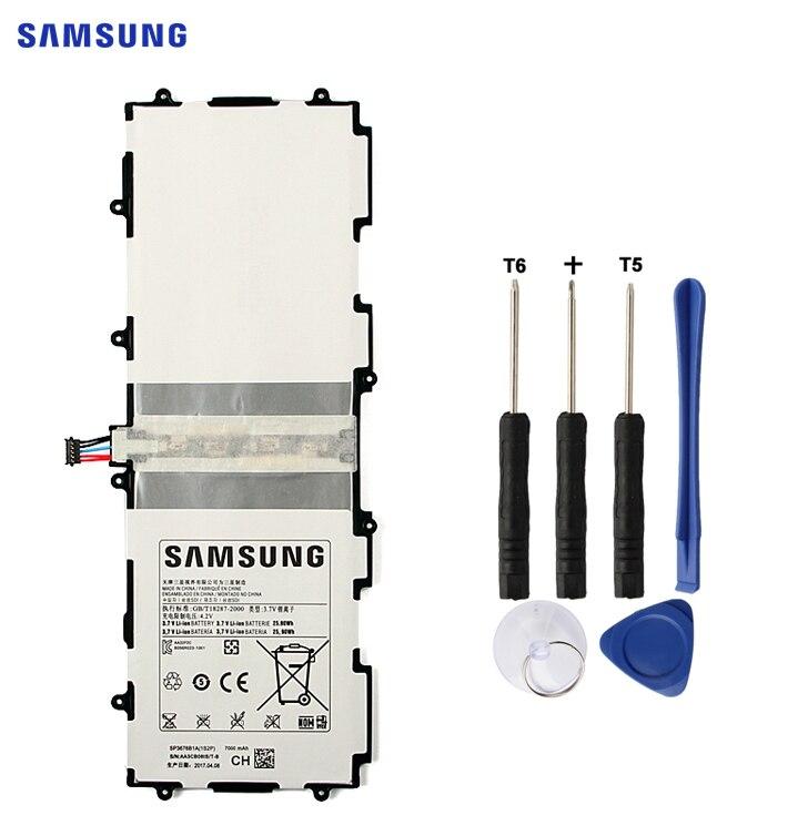 SAMSUNG batería Original SP3676B1A para Samsung Galaxy Tab 10,1 S2 10,1 N8000 N8010 N8020 GTN8013 P7510 P7500 P5110 P5100 7000 mah
